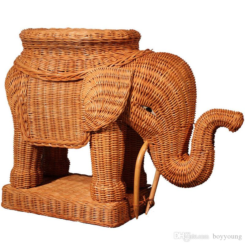 Captivating 2018 Rattan Handicraft Elephant Pure Hand Made Furniture Home Furnishing  Decorations Handmade Diy Elephant Creative Christmas Gift Free Dhl From  Boyyoung, ...