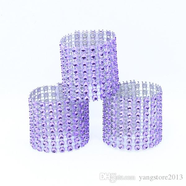 100 Rhinestone Bow Covers New 8 Row - silver and other wedding chair sash napkin rings wedding suppliers