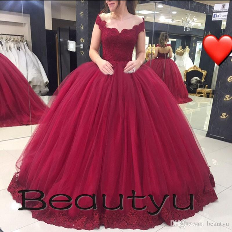 Plus Size Puffy Sweet 16 Ball Gowns Quinceanera Dresses 2018 Arabic ...