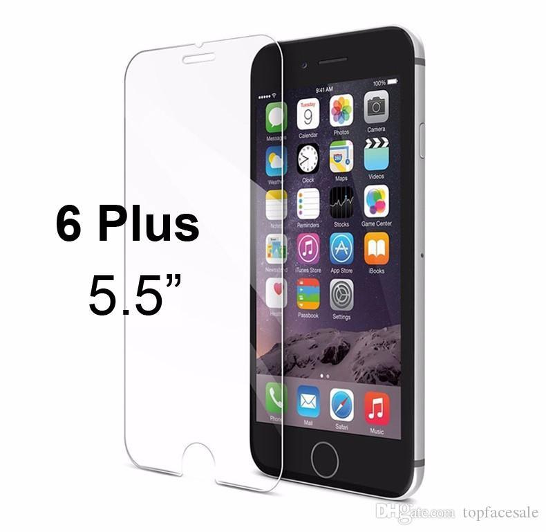 Premium Gehärtetem Glas Displayschutzfolie für iPhone Xs Max Xr X zurück 6 Plus 6 s Plus 7 8 Plus Gehärtetem Schutzfolie Mit Kleinpaket