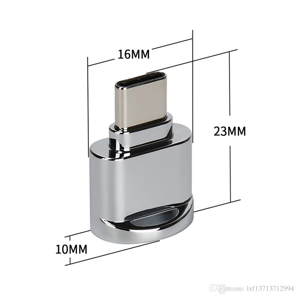 USB 3.1 Type C Micro SD TF Memory Card Reader OTG Adapter for S8 LG G6 V20 Xiaomi Huawei P9 P10 MacBook