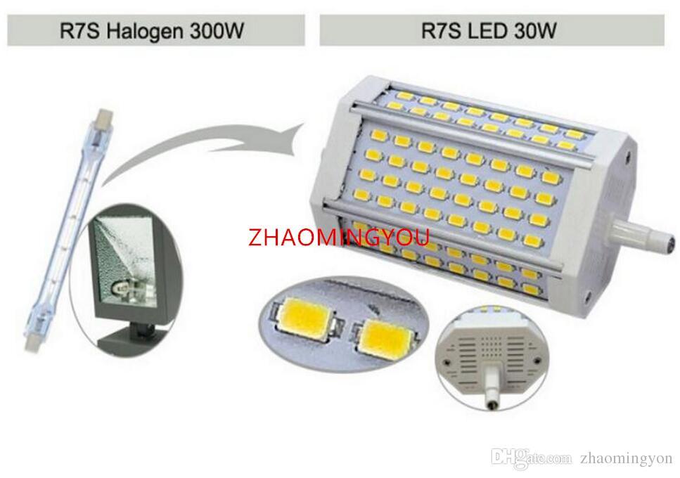 YON Dimmerabile R7S 30W 118mm led Lampadina R7S luce J118 R7S lampada senza ventilatore sostituire lampada alogena AC110-240V bianco caldo bianco freddo