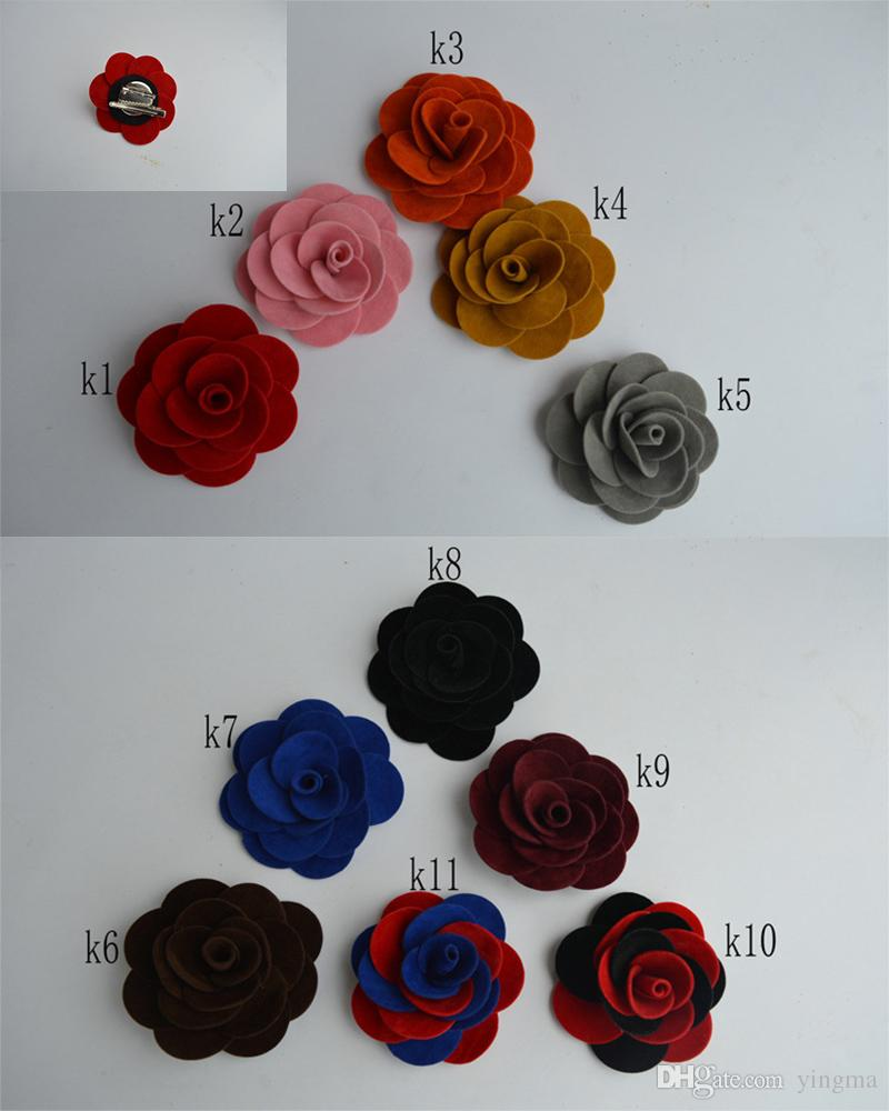 Fashion Men Lapel Pins Flower Handmade Corsage Boutonniere male Shape Stripped Brooch for Suit Wedding Groomsmen Brooches women Jewelry gift