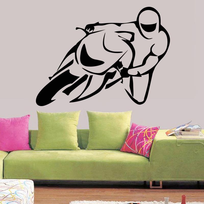 Racing Driver Wall Stickers Ragazzi Ragazze Adolescenti Fan Racing Home Decor Wallpaper Poster Soggiorno camera Da Letto Parete Grafica Decorativa Murale Art