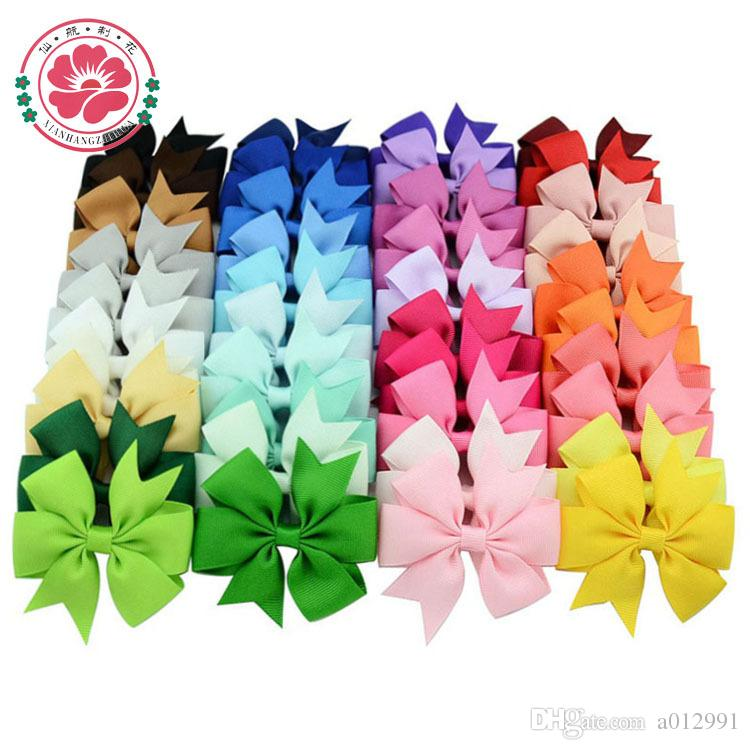 Archi capelli Spilla capelli bambini Ragazza Bambino Accessori capelli Baby Hairbows Girl with Clips Flower Clip Hot