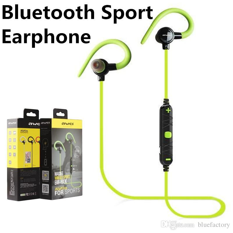 eac78304ac5 NEW Awei A620BL V4.0 Outdoor Sport Running Earphone Bluetooth Wireless  Headset In Ear Earbuds With Mic For Iphone 7 Samaung S7 Smartphone Wireless  Cell ...
