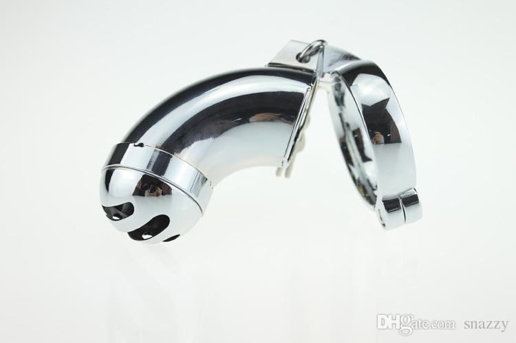 Anelli maschili Gabbia in acciaio inox dispositivo bloccabile Chastity CB Mens 3 taglie 40mm 45mm 50mm Cintura bloccaggio pene bondage giocattolo del sesso uomo