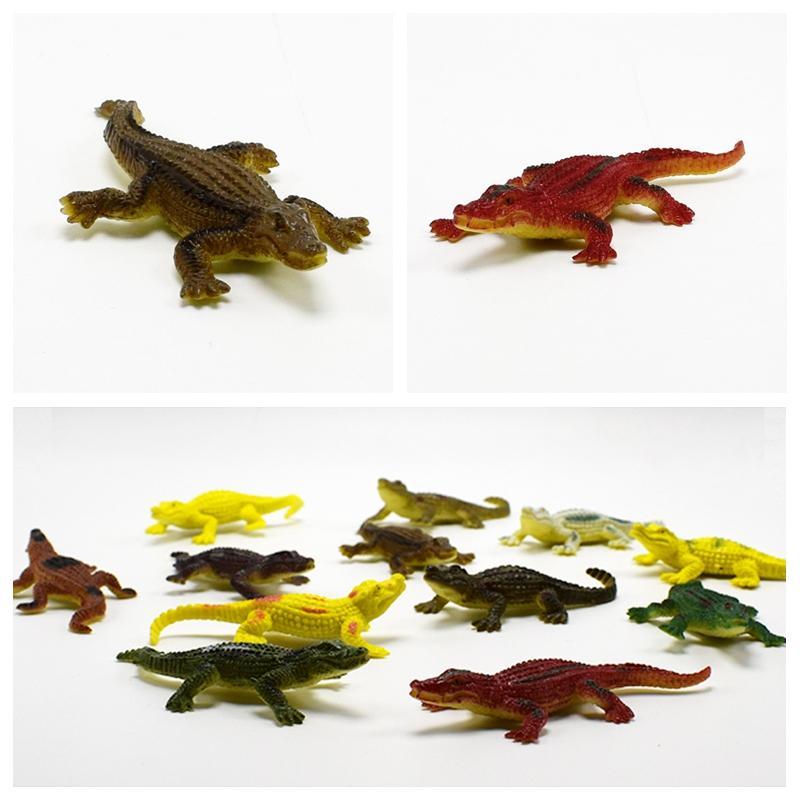 7CM Super Mine alligator Lifelike Simulation Animals crocodile Action Figure Toy For Kids wholesale