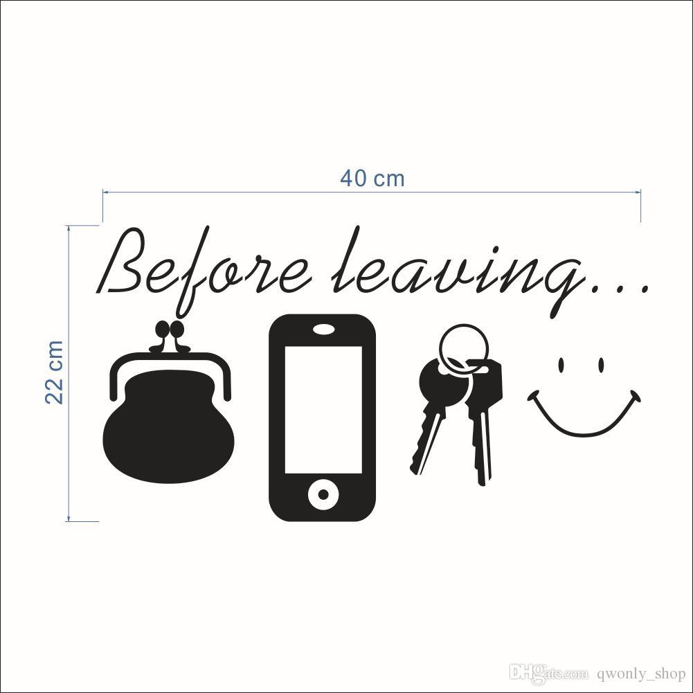 Großhandel Vor Dem Verlassen Der Erinnerung Vinyl Zitate Nicht Vergessen Tür Wandkunst Aufkleber Küche Lounge Wohnkultur Daily Poster Wandbild Von