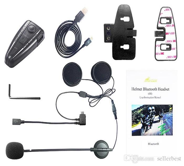 94c07182947 2019 Bluetooth Motorcycle Intercom Motorbike Helmet Interphone / FM Radio /  GPS Intercom 4 Buttons Operation Bluetooth 3.0 D2 500m From Sellerbest, ...