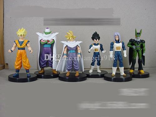 Dragon ball Dragonball Z Dragon Ball DBZ Anime 5inch Goku Vegeta Piccolo Gohan super saiyan Action Figure Toy DHL shipping E1345