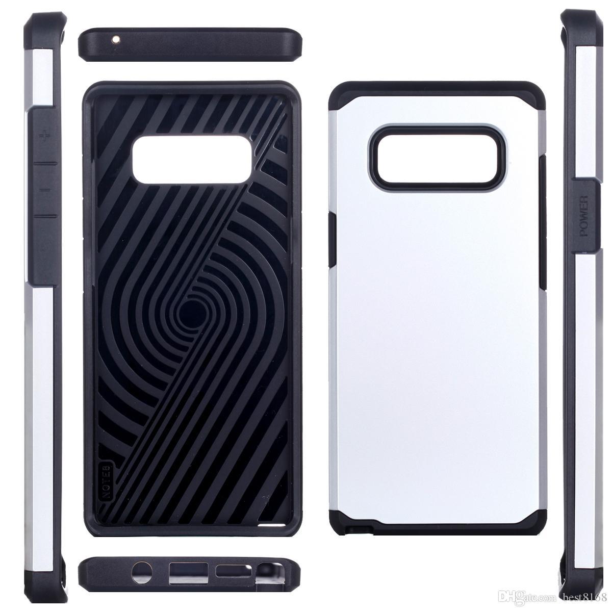 Étui Armor Robot pour Iphone X 5.8 pouces / Galaxy Note8 Note 8 robuste en plastique dur hybride résistant aux chocs + TPU Defender Couverture de peau de téléphone portable de luxe
