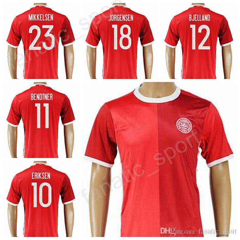 d6f3789a1 2019 Denmark Jersey 2017 2018 Soccer Thailand 18 JORGENSEN 10 ERIKSEN Football  Shirt Kits Make Customized 11 BRNDTNER 23 MIKKELSEN 12 BJELLAND From ...