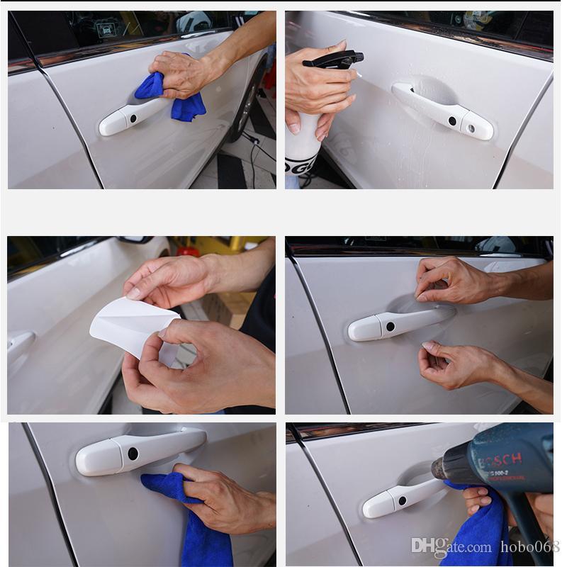 4x / set pour Honda CRV 2015-16 véhicules POIGNÉE DE PORTE PROTECTEUR SCRATCH FILM GARDE L DIY CASE
