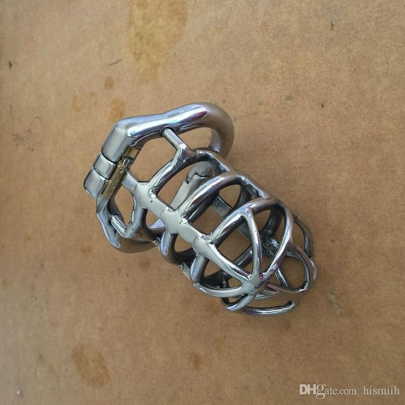 Новейшая Конструкция Из Нержавеющей Стали Мужской Устройство Целомудрия 83 мм Петушиный Кейдж Peins Lock Секс-Игрушки Для Мужчин Пояс Целомудрия