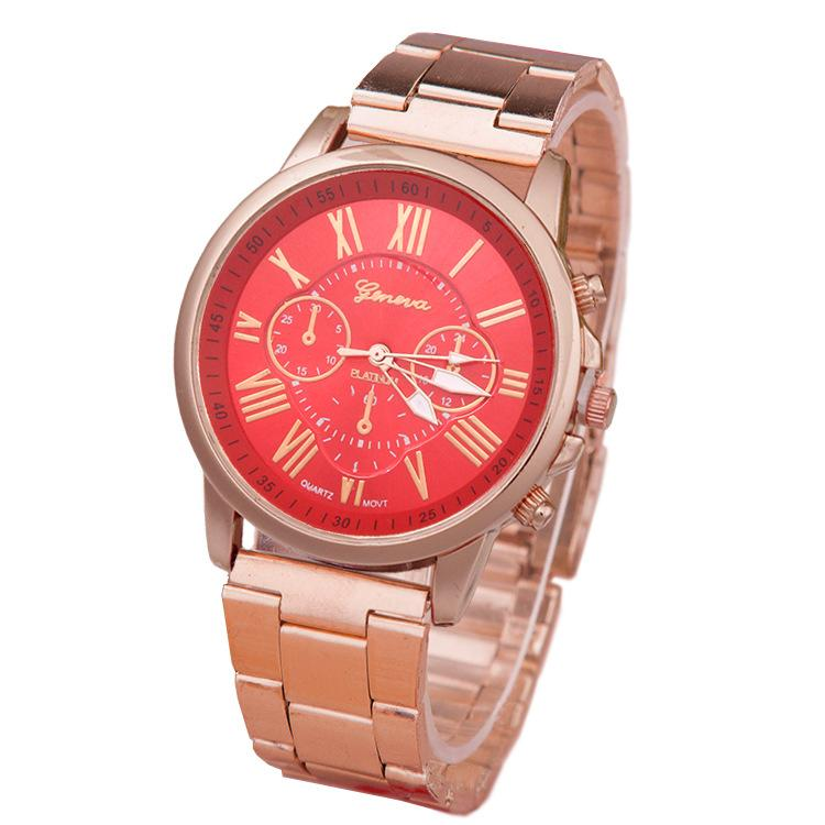 Außenhandel in Genf Uhr Die Sommereis-Strickuhr Handgeflochtene Farblegierung Genf-Uhr