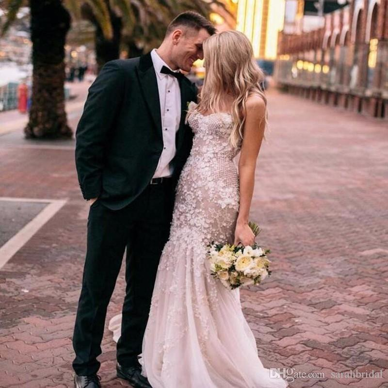 2019 hot Sweetheart mermaid Sheath modest real picture special occasion wedding dresses 12y champagne pregnant zipper fairy wedding dresses