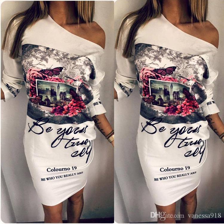 94643eb2572f Long Sleeve Dress Vintage Dress Women Party Dresses Short Casual ...