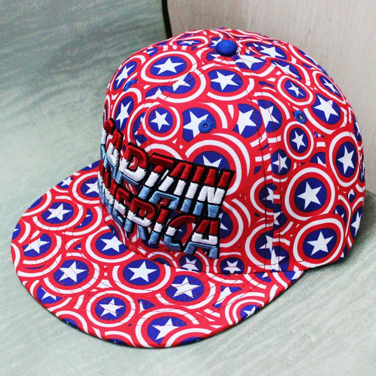 New Cartoon Avengers Captain America Baseball Cap Men Snapback Caps Adjustable Casquette Snapback Hat Casual Hip-Hop Hats