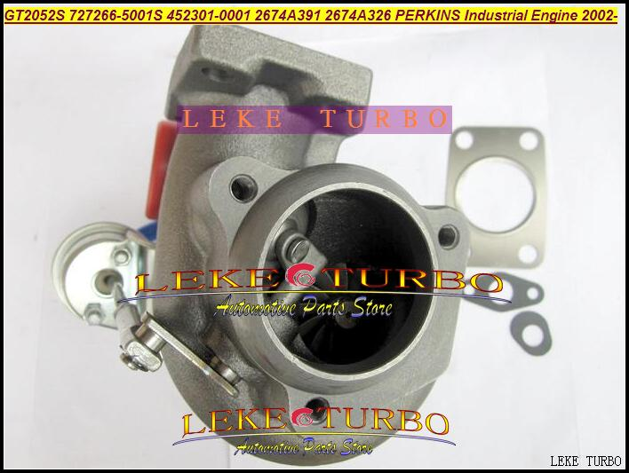 GT2052S 727266-5001S 452301-0001 2674A391 2674A326 Turbo Turbocharger For Perkins Industrial Engine 2002- Diesel
