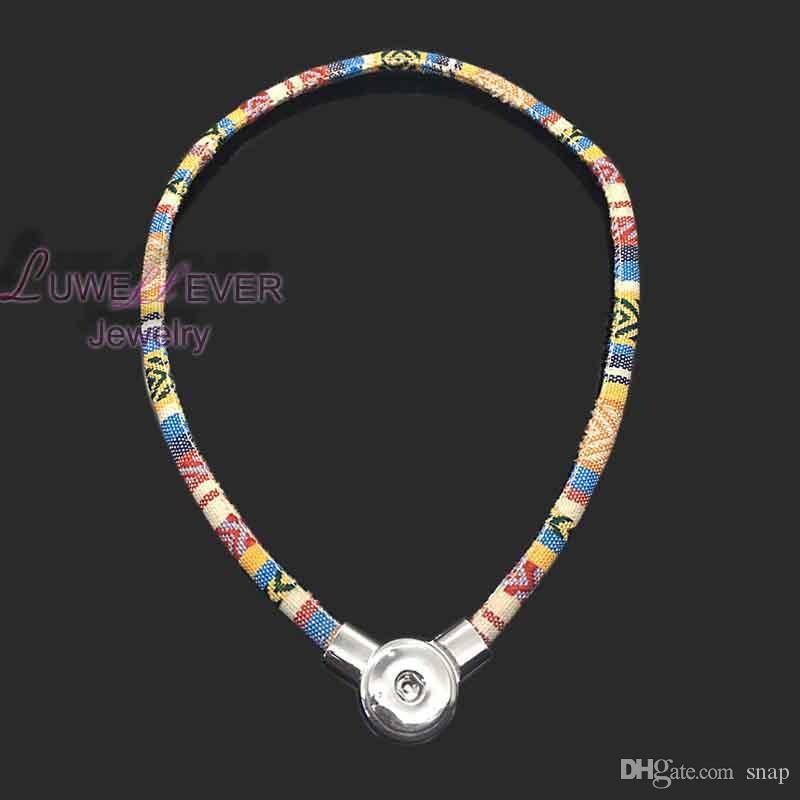 alta qualità 067 stile nazionale della Boemia fai da te con bottone a pressione a scatto magnetico collana pendente ciondolo le donne e gli uomini Fit 18mm pulsante