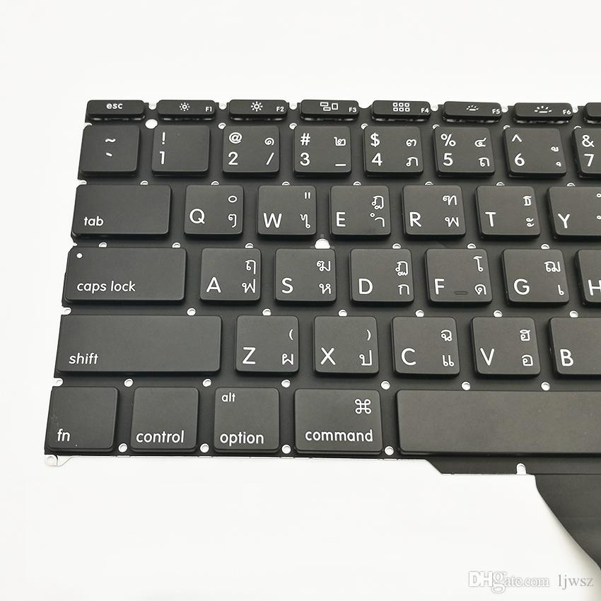 New Thailand Keyboard For Apple Macbook Air 11'' A1370 A1465 Thai Standard Keyboard Replacement 2010-2015 Year