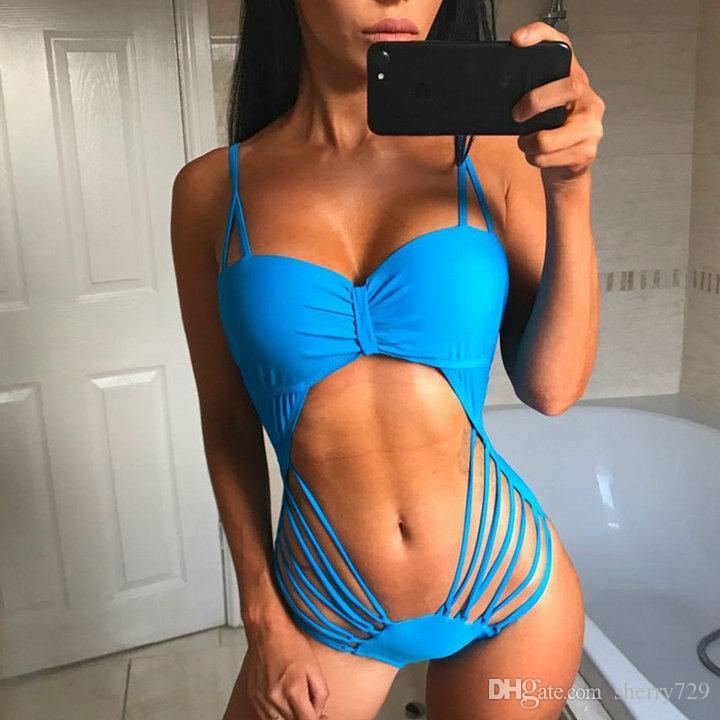 982dcf56bf658 2019 2017 Black White Tummy Cut Out Cross Sexy One Piece Swimsuit Bathing  Suit Wear Swim Suit For Women Swimwear Female Monokini From Sherry729