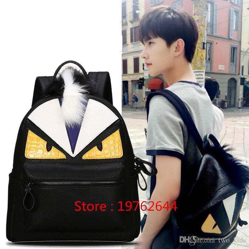 71e93cf13808 Little Monster Men Backpack Cartoon Boys Travel Backpack