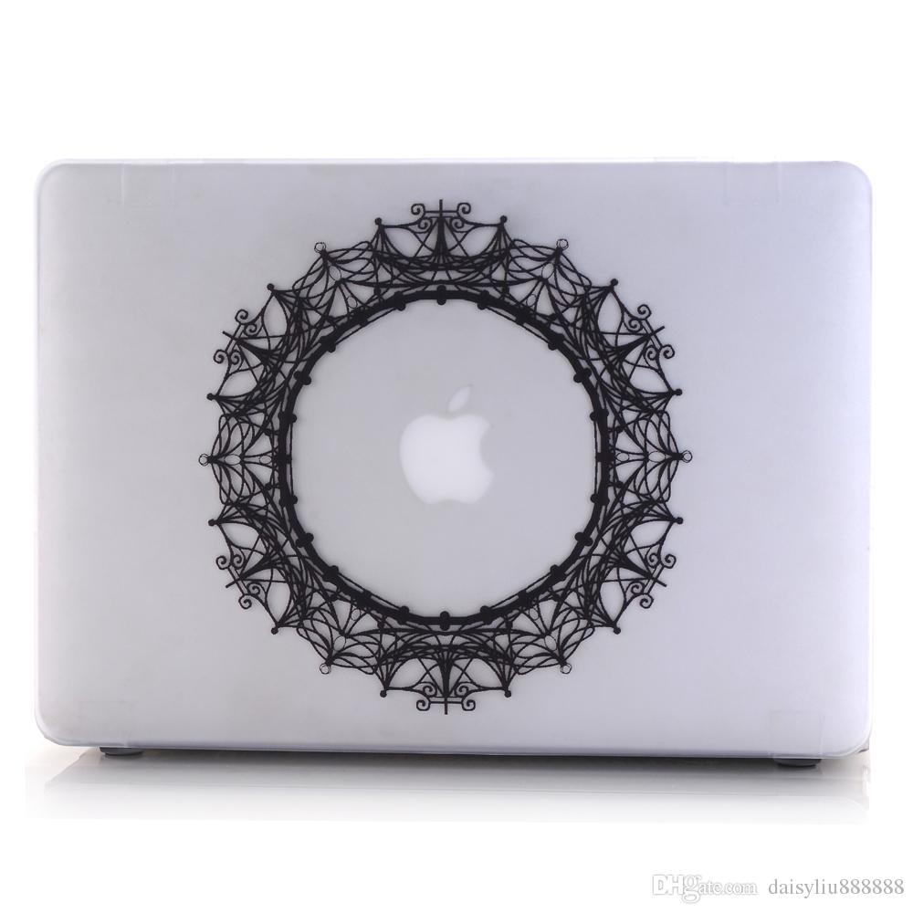 Flower Lace Pattern Shell Laptop Protector Hard Case For MacBook Air 11 13 inch For Macbook Pro with Retina 12 13.3 15 Cover