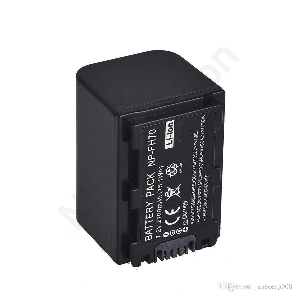 Batteries Numériques 7,2V 2100 mAh NP-FH70 NP FH70 Batterie Rechargeable NPFH70 SONY FH50 FH30 DCR-SX40 SX40RN