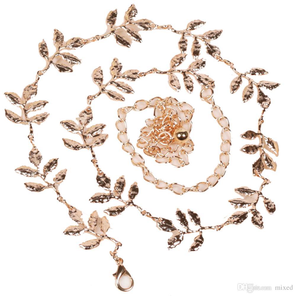 Женщины Металлические Листья Пояса Живота Цепи Ювелирные Изделия Бесконечности Жемчужные Ремни Для Женщин Девушка Оптовая