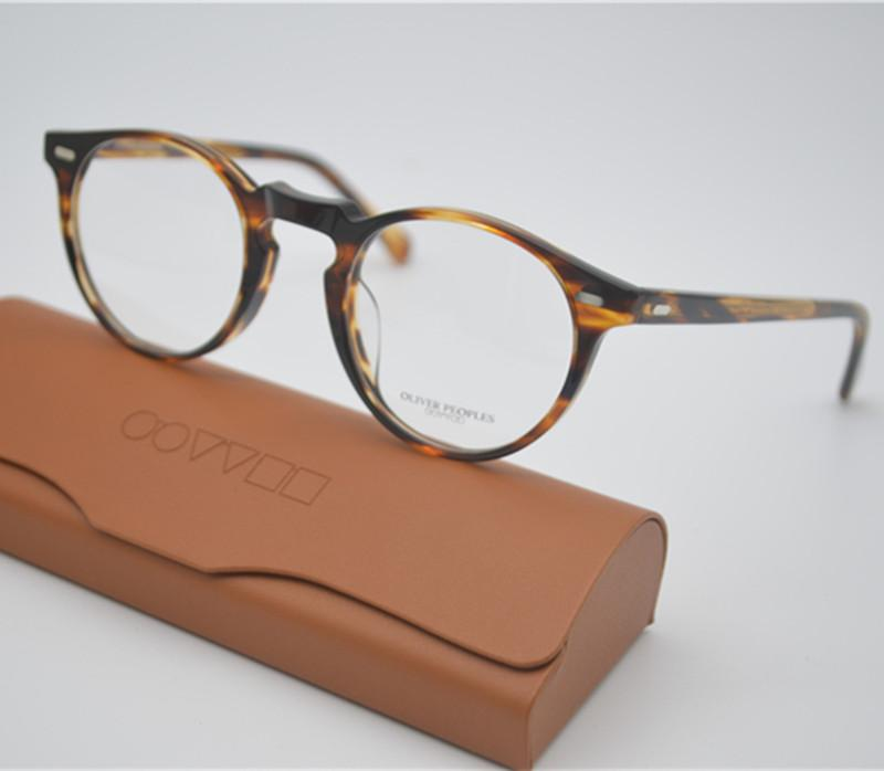 b85216b155d 2019 Wholesale Vintage Optical Glasses Frame Oliver Peoples OV5186 Gregory  Peck 47mm Eyeglasses For Men And Women Eyewear Frames With Case From  Xiacao