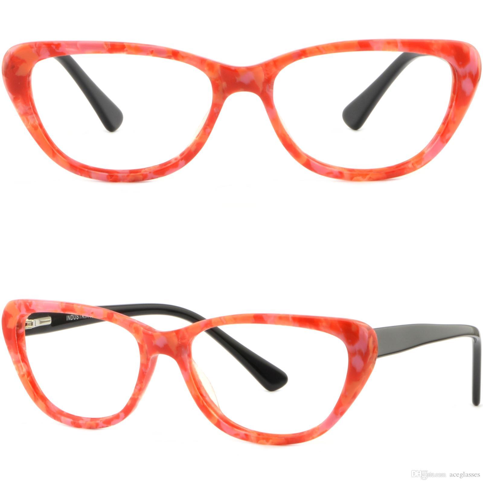 f8bb2b8cb6a Women s Cat Eye Plastic Frames Spring Hinges Prescription Sunglasses ...