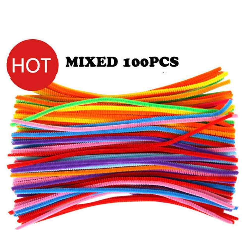 Chenille Stems Pipe Cleaners Kids Craft Educational Toys Twist Rods