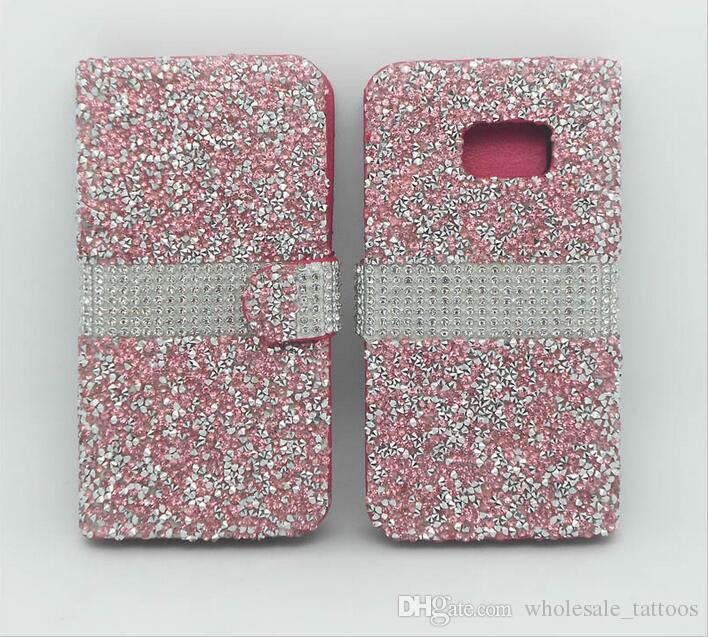 Alcatel Fierce A30 LG K20 PLUS LV5 J7 2017 Perx J727P Sky Custodia in Pelle Pro J3 primo MetroPCS lusso di Bling strass Diamante del basamento di vibrazione
