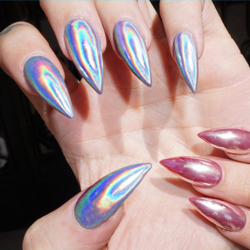 Wholesale E&A 1g Holographic Nail Polish Dust Rainbow Chameleon ...