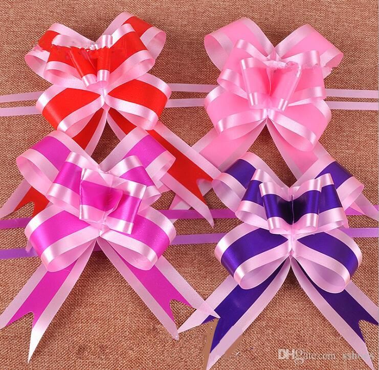 Wedding Decoration Pull Bow Flower Ribbon Bow Gift Box Wrapping