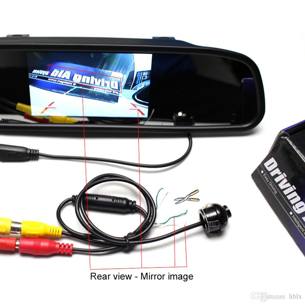 Mini-CCD-Nachtsicht 360-Grad-Auto-Front-Vorderansicht-Rückfahrkamera mit Spiegelbildkonvertierungslinien CAL_00D