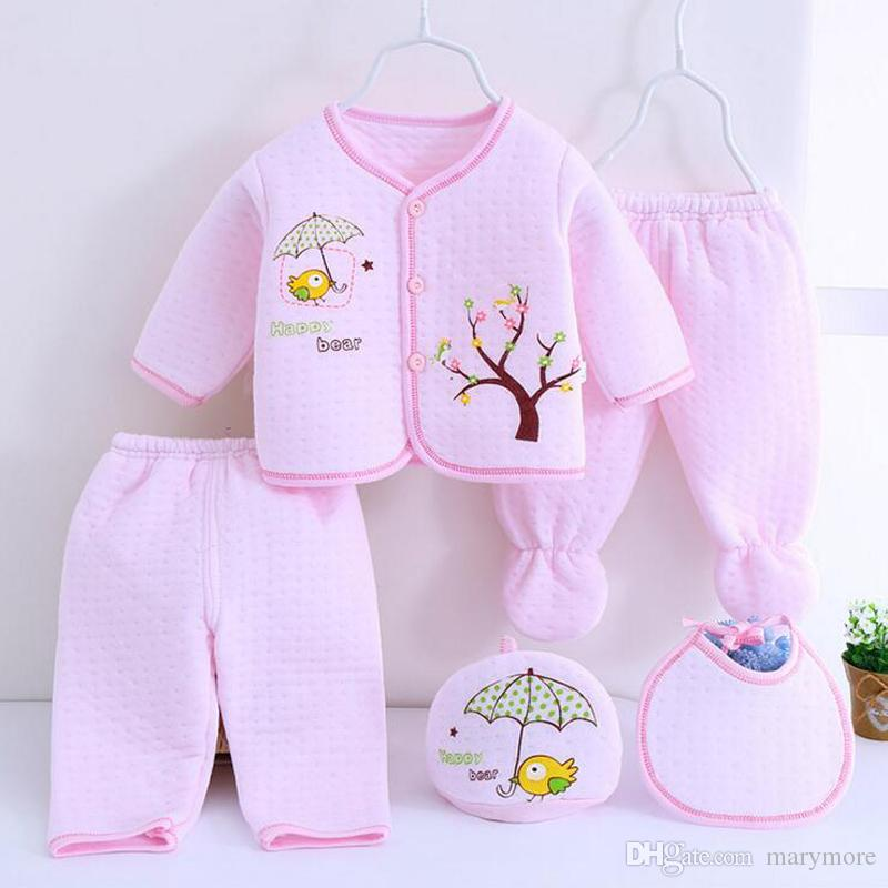 / set vestiti appena nati della molla messi ragazze dei ragazzi delle neonate dei pantaloni delle ghette del cotone dell'abbigliamento di Natale hanno regolato l'abbigliamento