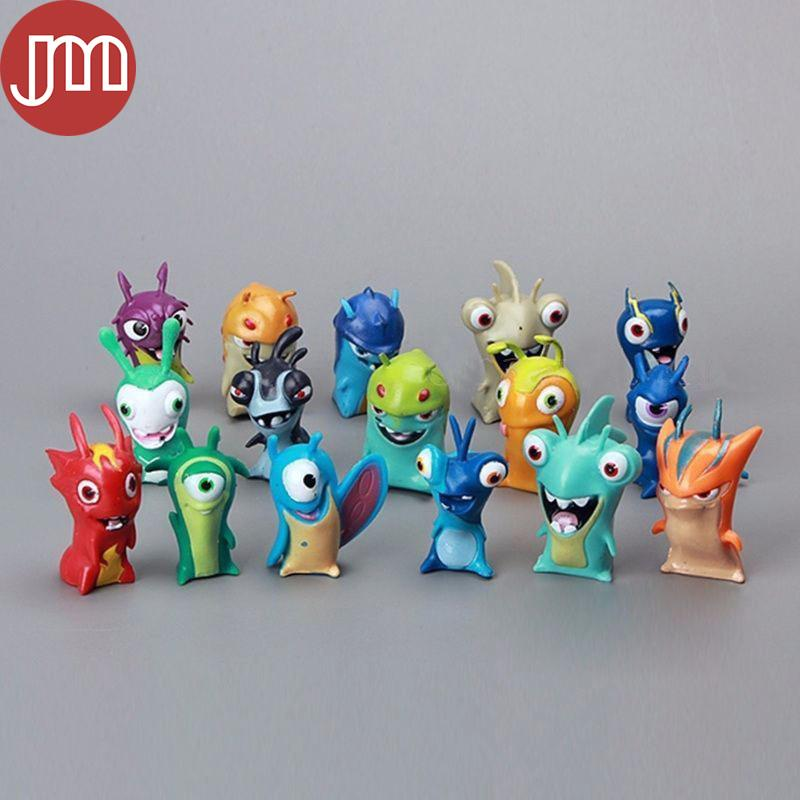 New 16 PCS Slugterra Toy 4-5cm Mini Action Figure Doll Cartoon Decoration All Different Kids Toys Free Tracking
