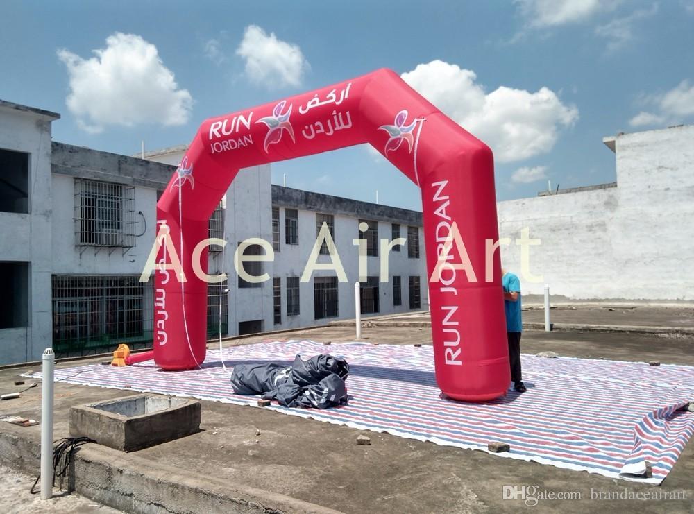 2018 nouveau conçu gonflable publicitaire Arche, Arc-Rouge complète, commencez la ligne d'arrivée pour la course de nuit Italie