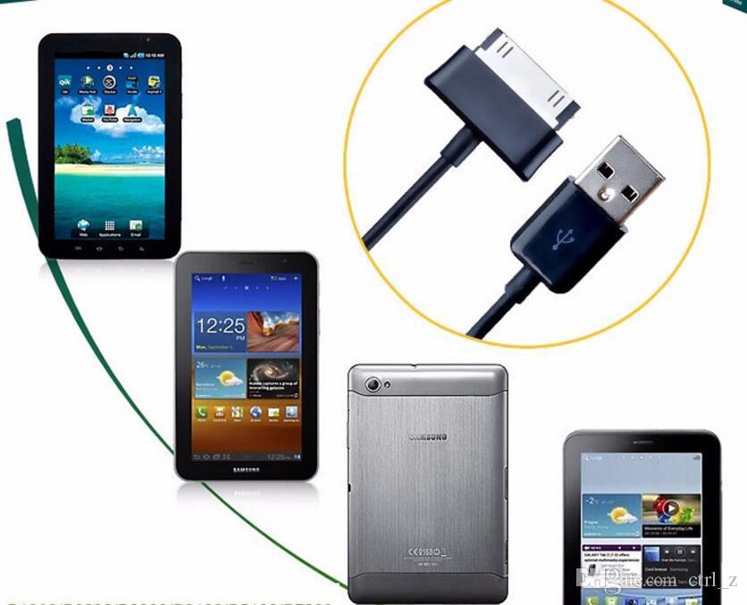 1M 3FT P1000 USB Data Cable Sync Cargador de línea de carga de cable para Samsung Galaxy Tab 2 P5100 N8000 Tab 3 P3200 Tablet PC