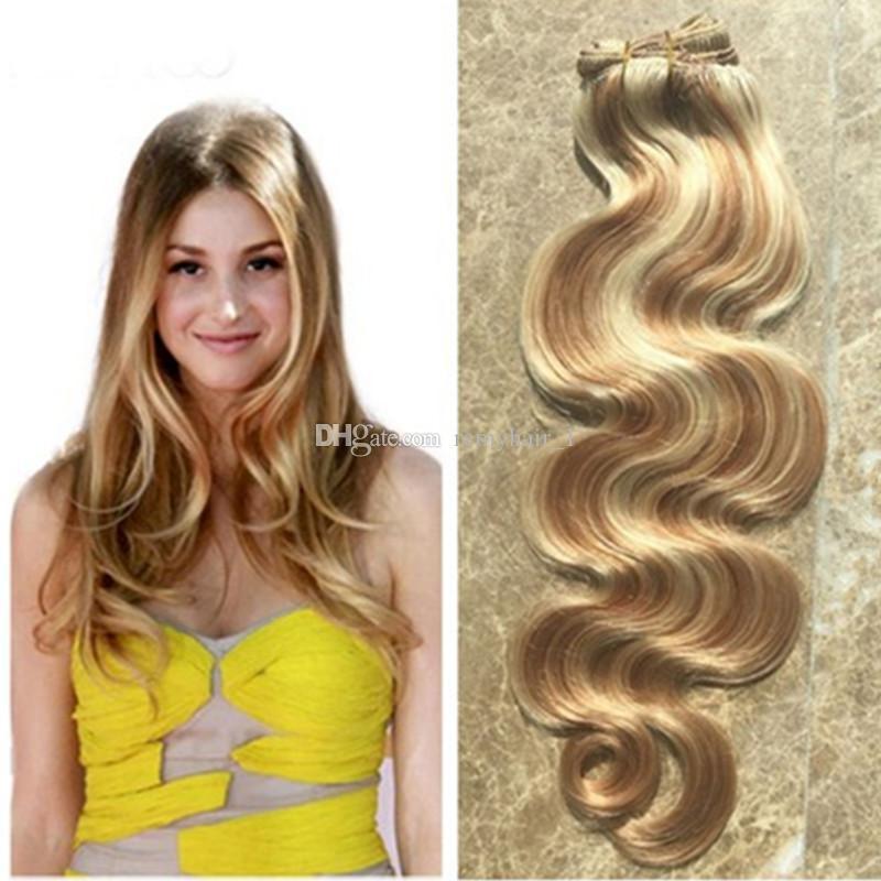 Highlight Ombre Brazilian Human Hair Bundles Piano Virgin Body Wave