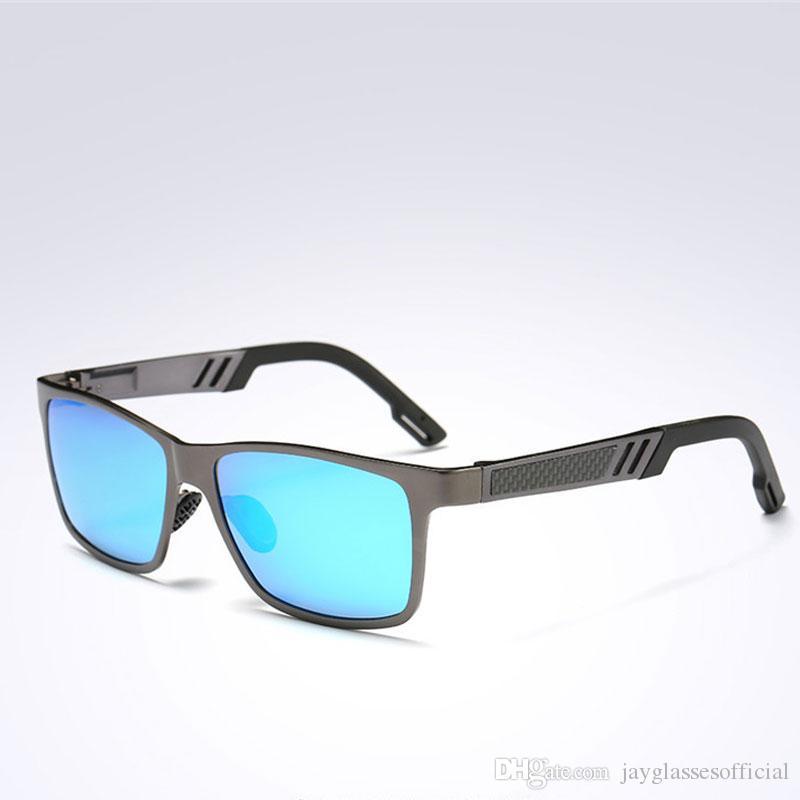 f5f0a8c11d Fashion Square Aluminum Magnesium Polarized Sunglasses Men Sun ...