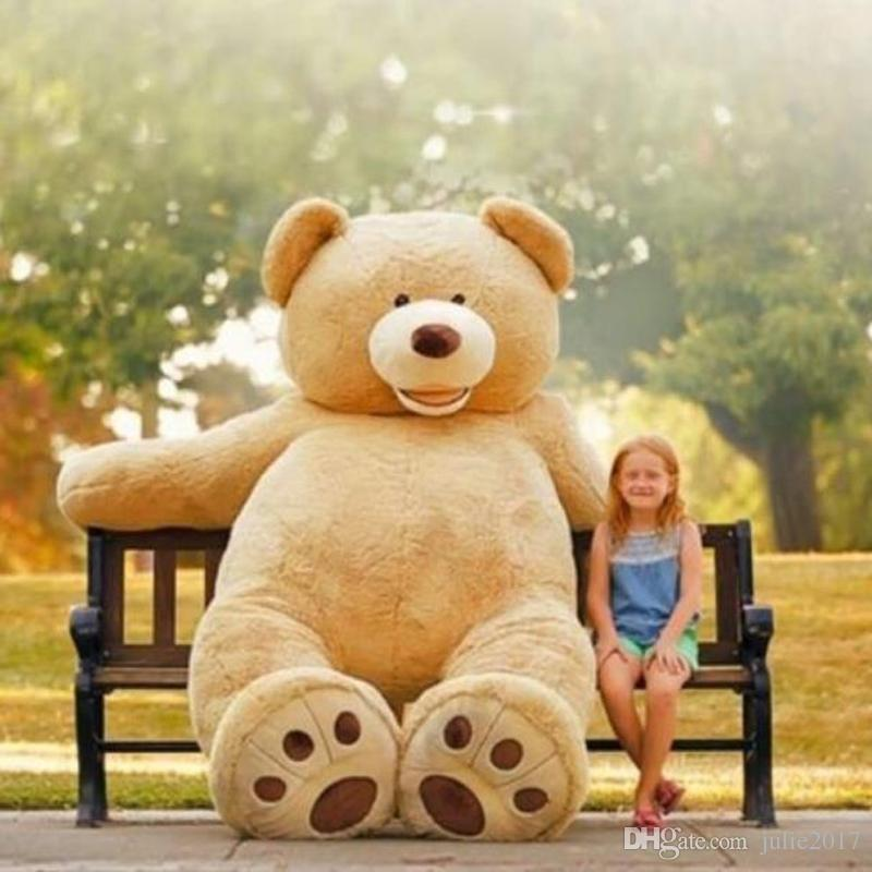 200CM Super Huge Teddy Bear ONLY COVER Plush Toy Shell WITH ZIPPER 79INCH Christmas Gifts Toy
