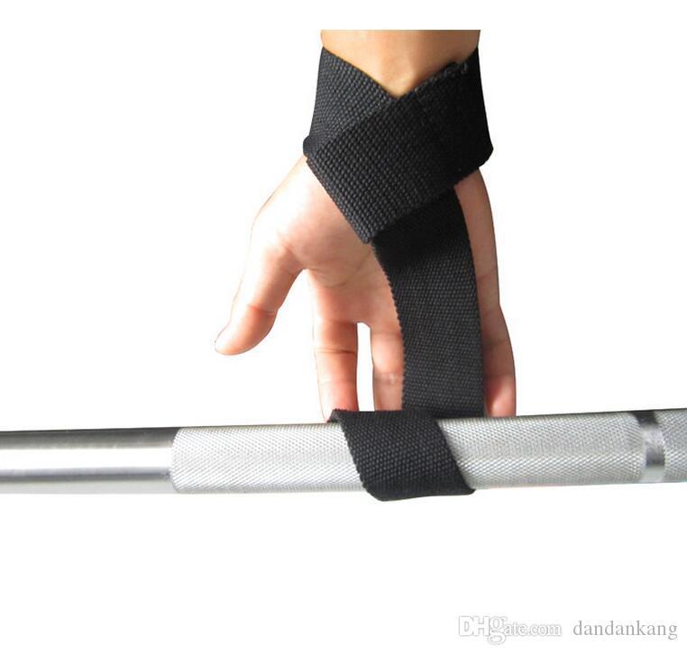 aperto de levantamento de peso correias cintos de treinamento de ginástica levantamento de peso Strap Apoio Bar de pulso da mão Brace Suporte embrulhar Body Building aperto Glove