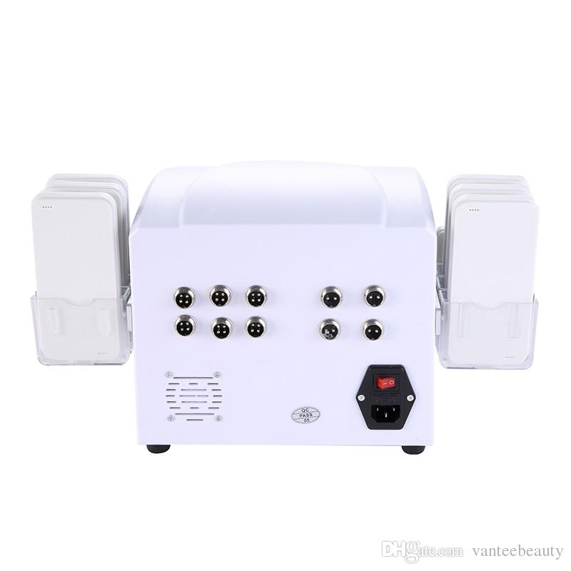 Portable Lipolaser 10 Laser Pads Diodes Lipo Laser Slimming Device For Whole Body Weight Loss For