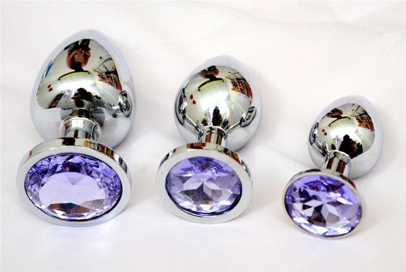 Piccola dimensione in acciaio inox metallo anale bottino perline in acciaio inox + cristallo gioielli giocattoli del sesso prodotti adulti butt plug le donne uomo