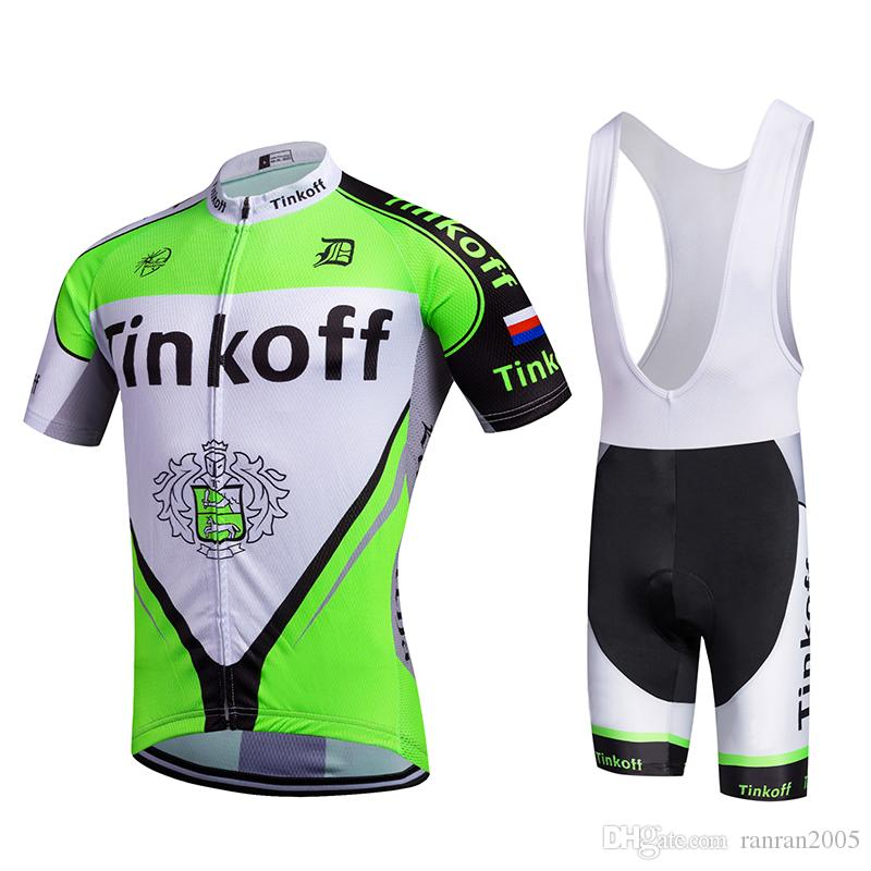 2017 TEAM Tinkoff Saxo Bank Cycling Jersey 3D Gel Pad Bibs ...