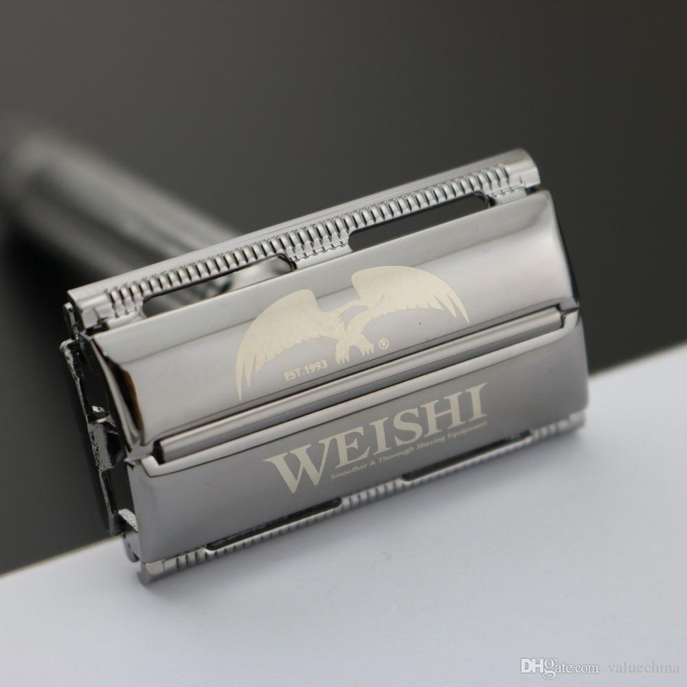 WEISHI Double Edge Classic Safety Razor, Copper alloy Pearl black 9306-C Top quality Simple packing NEW